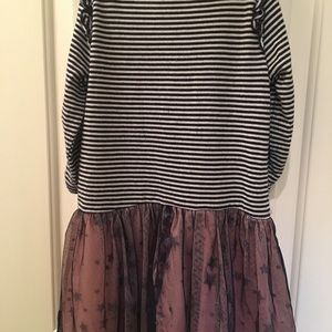 Lily Bleu Dresses - Blue stripes sparkle stars dress
